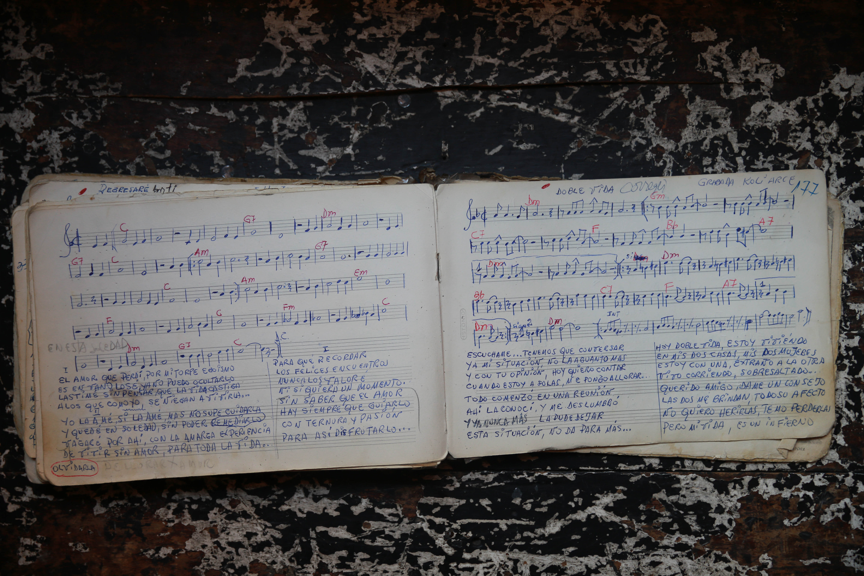 Partitura original de la cancion
