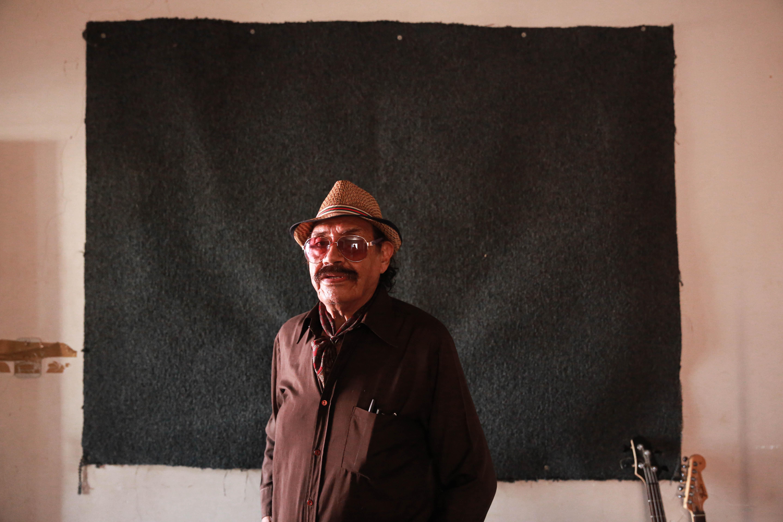 Rafa Ledesma, en el pequeño estudio El Consultorio.